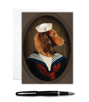 Doxie Greeting Card
